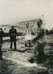Mai 1938 - Tino Rossi coup d'envoi Finale Championnat de Corse LOGO