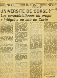 27 avril 1978 Université de Corse Les caractéristiques du projet intégré au site de Corte (presse) (2)
