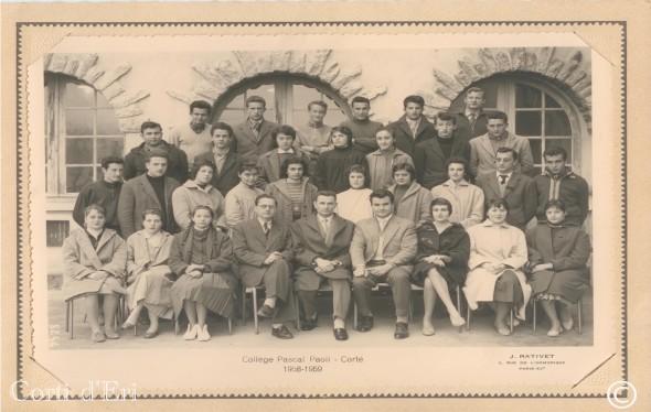 Collège Pascal Paoli - Corte 1958-1959 (Copier) copie
