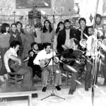 A Mannella: enregistrement du disque corse à l'éternelle église de Castirla en décembre 1978