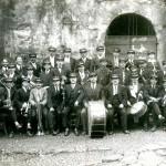 La Cortenaise en 1922 salle de musique fontaine des 4 canons
