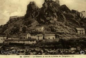 le chateau et vue de la vallée tavignanu