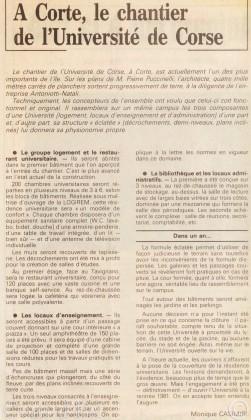 21 novembre 1980 Chantier université